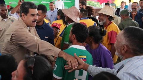 Campesinos finally managed to enter the presidential palace after a 20-day march traversing half the country